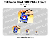 Pokemon FIRE PULL Emote for Twitch, Discord or Youtube