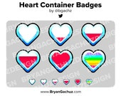 Heart Container Subscriber - Loyalty - Bit Badges for Twitch, Discord or Youtube
