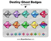 Destiny Ghost Shell Subscriber - Loyalty - Bit Badges for Twitch, Discord or Youtube