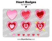 Heart Subscriber - Loyalty - Bit Badges for Twitch, Discord or Youtube