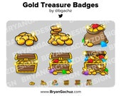 Gold/Treasure Subscriber - Loyalty - Bit Badges for Twitch, Discord or Youtube