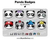 Panda Subscriber - Loyalty - Bit Badges for Twitch, Discord or Youtube