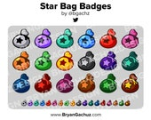 Star Bag Subscriber - Loyalty - Bit Badges - Channel Points for Twitch, Discord or Youtube