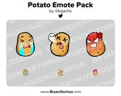 Potato Emote Pack for Twitch, Discord or Youtube