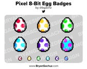 Pixel - 8-Bit Egg Subscriber - Loyalty - Bit Badges for Twitch, Discord or Youtube