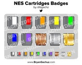 NES Cartridges Subscriber - Loyalty - Bit Badges for Twitch, Discord or Youtube