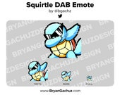 Pokemon Squirtle DAB Emote for Twitch, Discord or Youtube