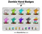 Zombie Hand Subscriber - Loyalty - Bit Badges for Twitch, Discord or Youtube | Halloween