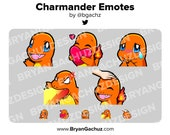 Pokemon Charmander Emote Pack for Twitch, Discord or Youtube