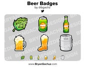 Beer Subscriber - Loyalty - Bit Badges for Twitch, Discord or Youtube