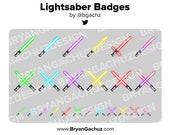 Lightsaber / Laser Sword Subscriber - Loyalty - Bit Badges for Twitch, Discord or Youtube