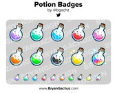 Potion Bottle Subscriber - Loyalty - Bit Badges for Twitch, Discord or Youtube | Halloween