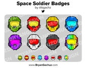 Space Soldier Helmet Subscriber - Loyalty - Bit Badges for Twitch, Discord or Youtube