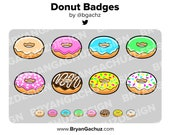 Donut Subscriber - Loyalty - Bit Badges for Twitch, Discord or Youtube