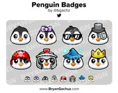 Penguin Subscriber - Loyalty - Bit Badges for Twitch, Discord or Youtube