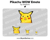 Pokemon Pikachu WOW/Shocked Emote for Twitch, Discord or Youtube