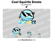 Pokemon Cool Squirtle Emote for Twitch, Discord or Youtube