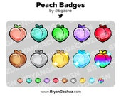 Peach Subscriber - Loyalty - Bit Badges for Twitch, Discord or Youtube