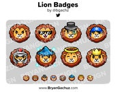 Lion Subscriber - Loyalty - Bit Badges for Twitch, Discord or Youtube