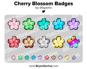 Colorful Cherry Blossom Subscriber - Loyalty - Bit Badges - Channel Points for Twitch, Discord or Youtube