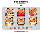 Fox Emotes for Twitch, Discord or Youtube