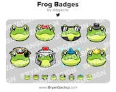 Cute Kawaii Frog Subscriber - Loyalty - Bit Badges - Channel Points for Twitch, Discord or Youtube