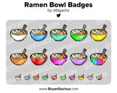 Ramen Bowl Subscriber - Loyalty - Bit Badges for Twitch, Discord or Youtube