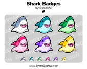 Shark Subscriber - Loyalty - Bit Badges for Twitch, Discord or Youtube