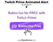 Twitch Prime Alert for Twitch or Youtube (Animated)