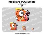 Pokemon Magikarp POG Emote for Twitch, Discord or Youtube
