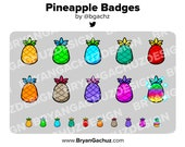 Pineapple Fruit Subscriber - Loyalty - Bit Badges for Twitch, Discord or Youtube