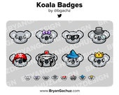 Koala Subscriber - Loyalty - Bit Badges for Twitch, Discord or Youtube