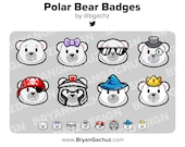 Polar Bear Subscriber - Loyalty - Bit Badges for Twitch, Discord or Youtube
