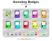 Gameboy Subscriber - Loyalty - Bit Badges - Channel Points for Twitch, Discord or Youtube