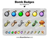 Colorful Bomb Subscriber - Loyalty - Bit Badges for Twitch, Discord or Youtube