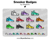 Colorful Sneaker Subscriber - Loyalty - Bit Badges for Twitch, Discord or Youtube
