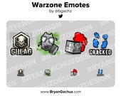 WARZONE Emotes for Twitch, Discord or Youtube