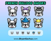 French Bulldog Subscriber - Loyalty - Bit Badges for Twitch, Discord or Youtube
