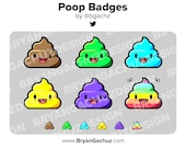 Poop Subscriber - Loyalty - Bit Badges for Twitch, Discord or Youtube