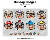 Bulldog Subscriber - Loyalty - Bit Badges - Channel Points for Twitch, Discord or Youtube