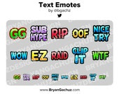 Text Emotes for Twitch, Discord or Youtube