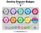 Destiny Engram Subscriber - Loyalty - Bit Badges for Twitch, Discord or Youtube