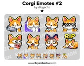 Corgi Emotes #2 for Twitch, Discord or Youtube