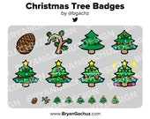 Christmas Tree Subscriber - Loyalty - Bit Badges - Channel Points for Twitch, Discord or Youtube   Christmas