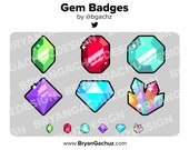 Gem Subscriber - Loyalty - Bit Badges for Twitch, Discord or Youtube