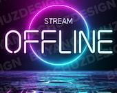 Neon, Cyberpunk, RGB Twitch Offline Screen