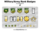 Military / Army Rank Subscriber - Loyalty - Bit Badges - Channel Points for Twitch, Discord or Youtube