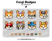 Corgi Dog Subscriber - Loyalty - Bit Badges for Twitch, Discord or Youtube