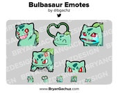 Pokemon Bulbasaur Emote Pack for Twitch, Discord or Youtube