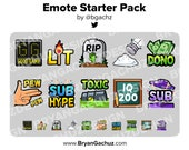 Emote Starter Pack for Twitch, Discord or Youtube